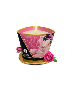 Bougie de massage lueur et caresses - aphrodisia - rose
