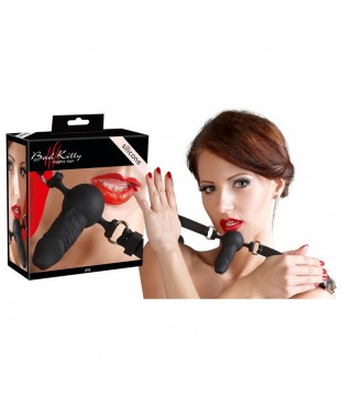 Baillon avec mini gode en silicone Bad Kitty
