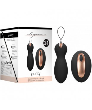 Double Stimulateur Rechargeable 2en1 Purity Noir