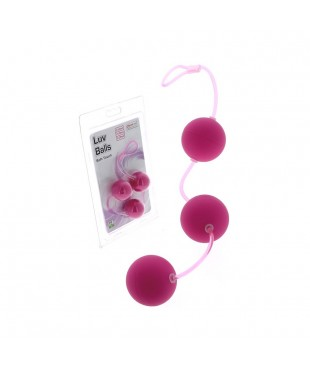 Triple Boules de Geisha Luv Ball rose - Ø 3,5 cm