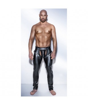 Chaps Noir Powerwetlook H042 - S