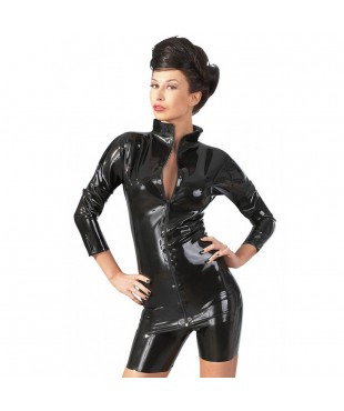 Tee Shirt en Latex avec Zip - XXL
