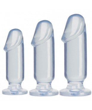 Gode Anal Starter Kit Transparent 3 godes