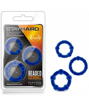 Pack 3 Anneaux Stay Hard Beaded