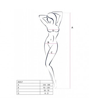 BS017 Bodystocking - Noir