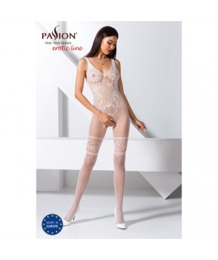 BS069W Bodystocking - Blanc