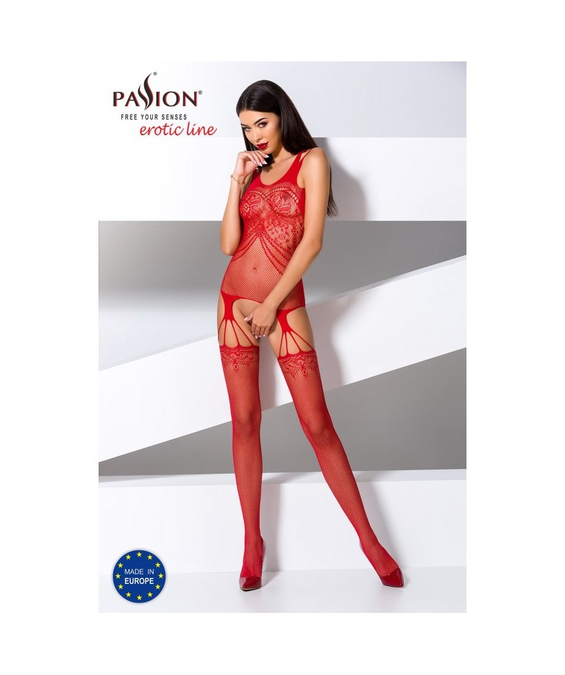 BS070R Bodystocking - Rouge