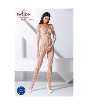 BS068W Bodystocking - Blanc