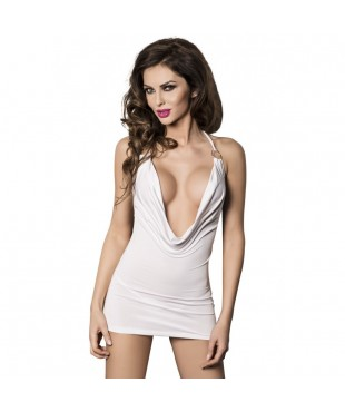 Robe et String Miracle blanc - L-XL