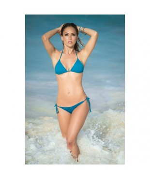 Two piece swimsuit turquoise 6728