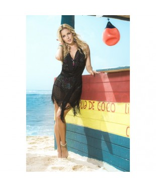 Beach dress black 7794