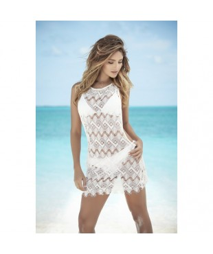 Cover up beach dress ivory 7838