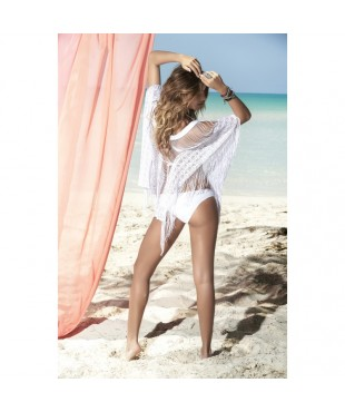 Cover up beach dress white 7834
